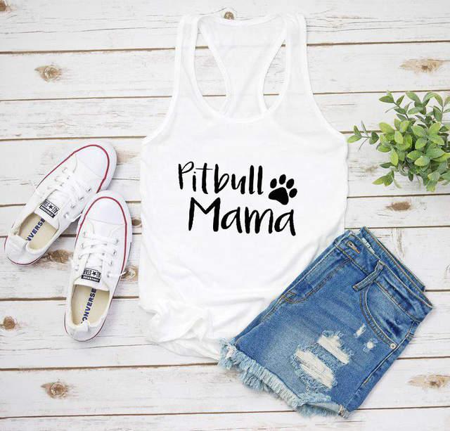 Dog mama paw Ladies T-shirt//Tank Top u233f
