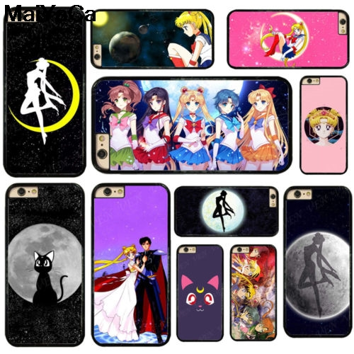 Obedient Maiyaca Sailor Moon Luna Cat For Samsung S3 S4 S5 S6 S7 S8 S9 Plus Edge Note 4 5 7 8 Black Soft Shell Phone Case Rubber Silicone Half-wrapped Case
