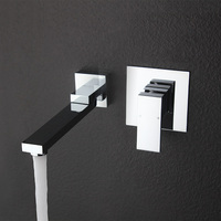 Free Shipping Concealed Installation Basin Faucet Hot And Cold Water Wall Mounted Basin Faucet BF999