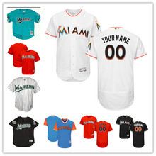 d1081758 MLB Custom Men's Miami Marlins Players Weekend Father's Day Jersey Size XS -6XL