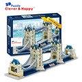 Ponte torre modelo 3d puzzle terra inteligente e feliz enigma adulto modelo diy para papel de aprendizagem e educação