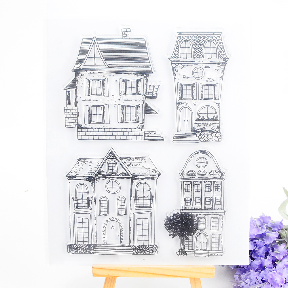 House Clear Stamp for Scrapbooking DIY Photo Album Paper Card Making Silicone Seal Transparent Stamp Decoration Craft Supplies