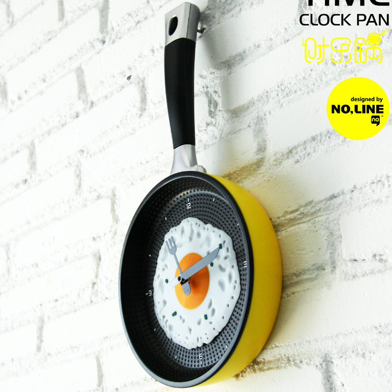 aliexpresscom buy modern unique frying pan shape digital wall clocks designer kitchen wall clocks for home decoration from reliable clock mens suppliers - Designer Kitchen Wall Clocks