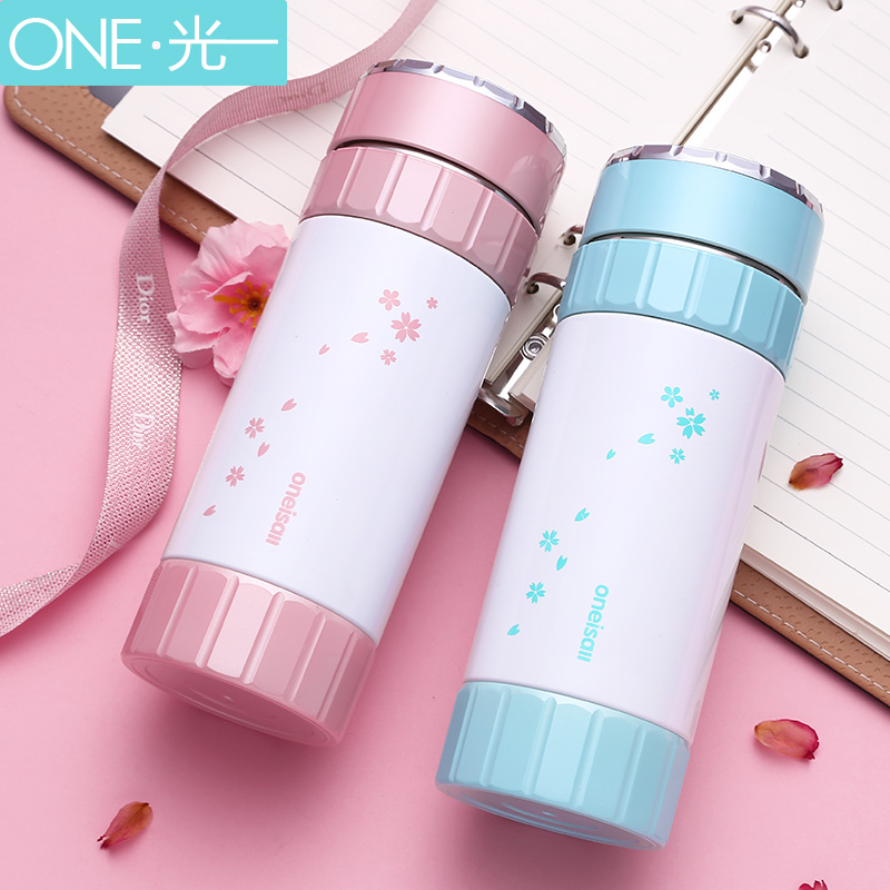 Ceramic Thermos Cup Stainless steel water bottle Insulated Vacuum Flask milk juice mug Students bottle Lovers drinking Bottle thermos fdh 2005 mtb vacuum inculated bottle