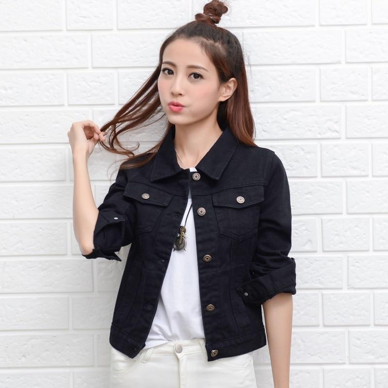 7638bb7513 Uwback Woman Denim Jacket 2017 New Brand Jeans Jacket Women Slim Plus Size  Washed Vintage Spring Women Basic Coats TB1404-in Basic Jackets from Women s  ...