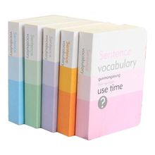 Cute Portable English Words With The Book Review Learning Small Helper Creative Notes Pocket