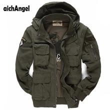 Męska kurtka wojskowa pilotów powietrznych kurtka wojskowa casualowa kurtka zimowa znosić rękawy odpinany mundur wojskowy płaszcz