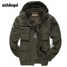 Mens Military Jacket air Pilots Army Jacket Casual Jacket Winter Outwear Sleeves Detachble Military Uniform Coat