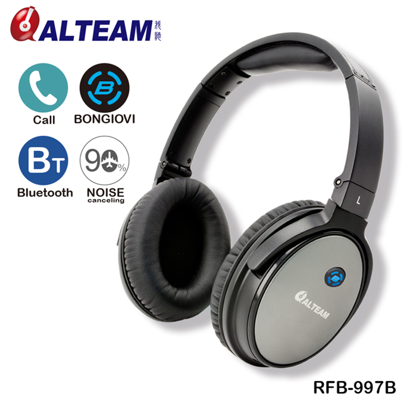 Best New Handsfree Stereo Bass Music Over Ear Wireless Anti Noise Headphones Headset Bluetooth Active Noise Cancelling with Mic 2016 new metal bluetooth stereo super bass headphones 8600 bluetooth 4 0 high fidelity wireless over ear headset for smart phone