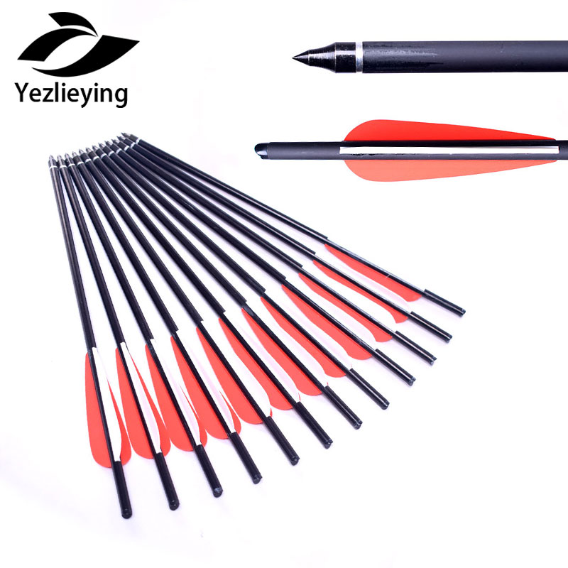 Outdoor Sport 12pcs Hunting archery 16Inch Carbon Arrow Replaceable Arrow Used For Composite Bow