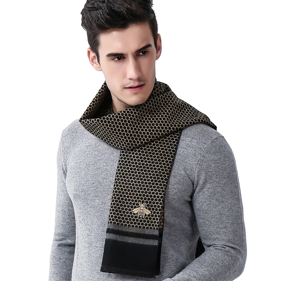 New European and American Recreational Business Honeycomb Coloured Men 39 s Scarf in Men 39 s Scarves from Apparel Accessories