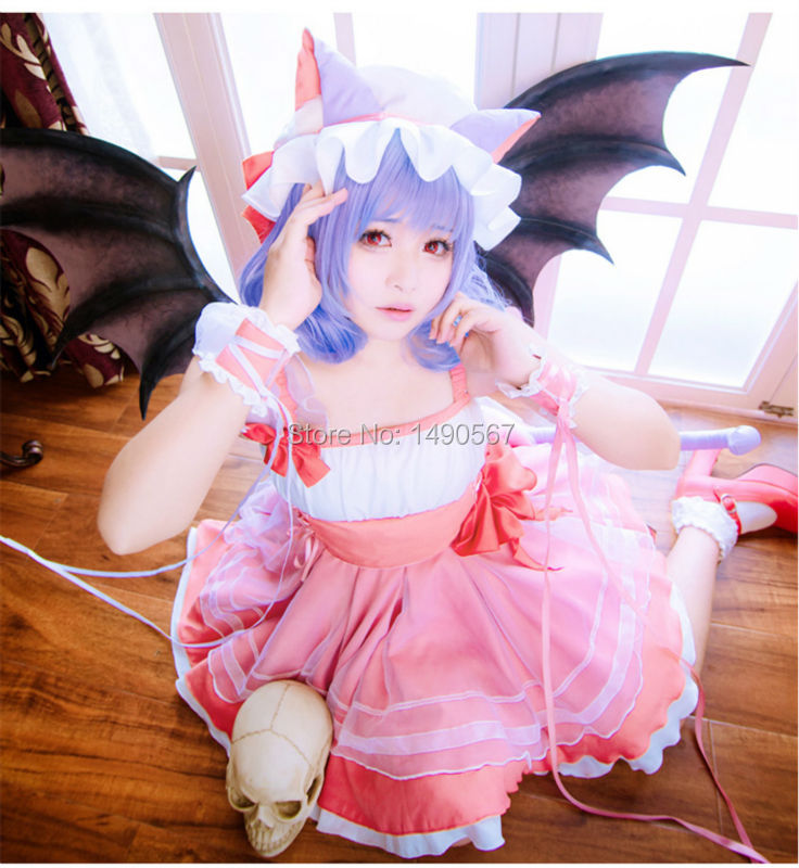 Touhou Project Series Remilia Scarlet cos Dress cat ear Cosplay Costume Party Costume
