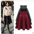 Woolen skirts models fall 2017 new female was thin big yards long tutu waist put on a large umbrella skirt solid color hot sale