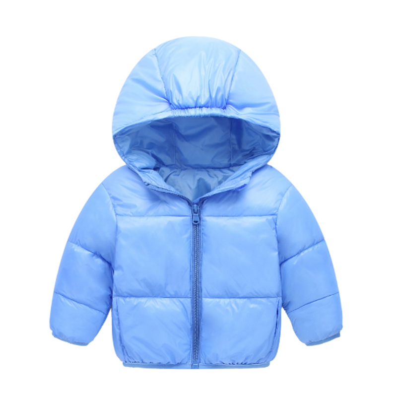 2017 New Fashion Winter Girls Clothing Down & Parkas Solid Cotton Hooded Regular Kids Boys Jacket Children Outwear Coats 3dp006 2017 new winter sytle children clothing fashion cartoon print girls down & parkas 1 6y hooded children jackets coats for girls