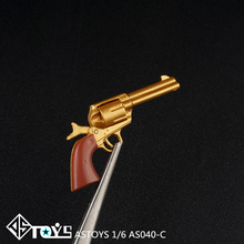 ASTOYS AS040 1/6  Gun Toy Revolver Pistol Gun Weapon Model for 12 inches Action Figure Doll Toy Gift 1 3 aug metal toy gun model toy guns sniper rifle alloy weapon gift collection diy juguetes model gun metal bullet action figure