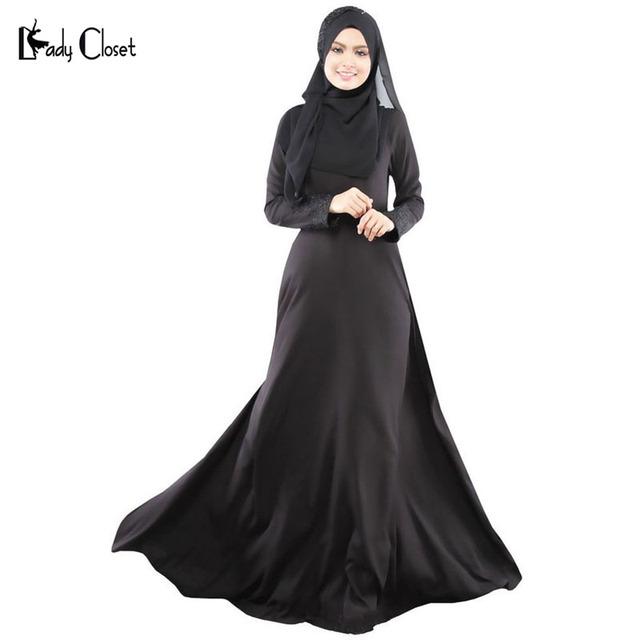 Wholesale Turkish women clothing muslim abaya dress islamic abayas jilbab  musulmane vestidos longos dubai kaftan hijab 8a8506c3288b