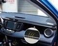 Fibra de Carbono de acero Inoxidable de alta calidad de Ébano Instrumento panel de lentejuelas 2 unids para Toyota 2014 2015 2016 Rav4 accesorios