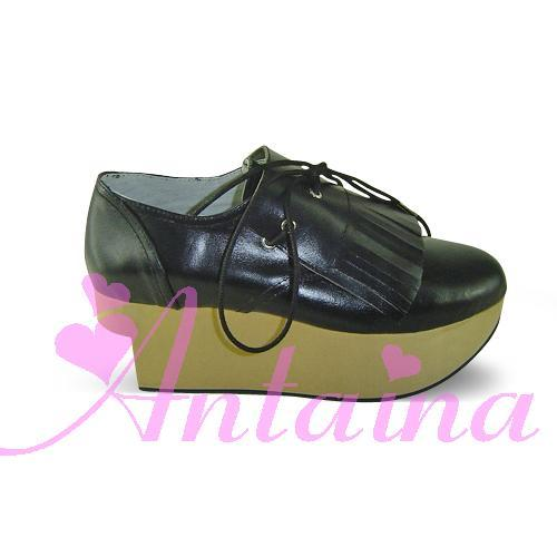 Princess sweet lolita shose Lolilloliyoyo antaina lovely platform zipper wood grain platform shoes 999a High Platform shoes