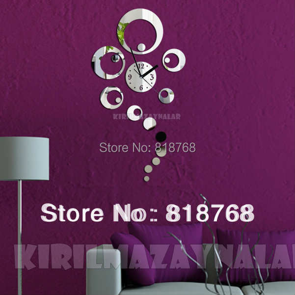 Min order 15 usd ( Mix items )Creative DIY Acrylic Wall Clock  40X70cm big clock