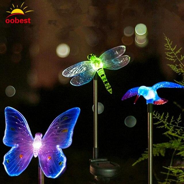 Solar Lampen LED Kleurrijke Vlinder Guirlande chriamas Decoratie ...