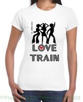 여성 티 사랑 기차 디스코 멋진 여성의 T-70 초 1970 초 O 제이스 여름 여성 짧은 소매 셔츠
