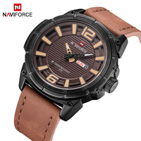 NEW NAVIFORCE Watches Men Luxury Brand Men S Fashion Casual Sport Watch Men Waterproof Leather Quartz