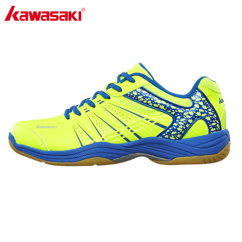 KAWASAKI Märke Professionell Grön Badminton Skor Lace Up Sneakers Andas Män Indoor Court Sport Shoe K-061 062 063
