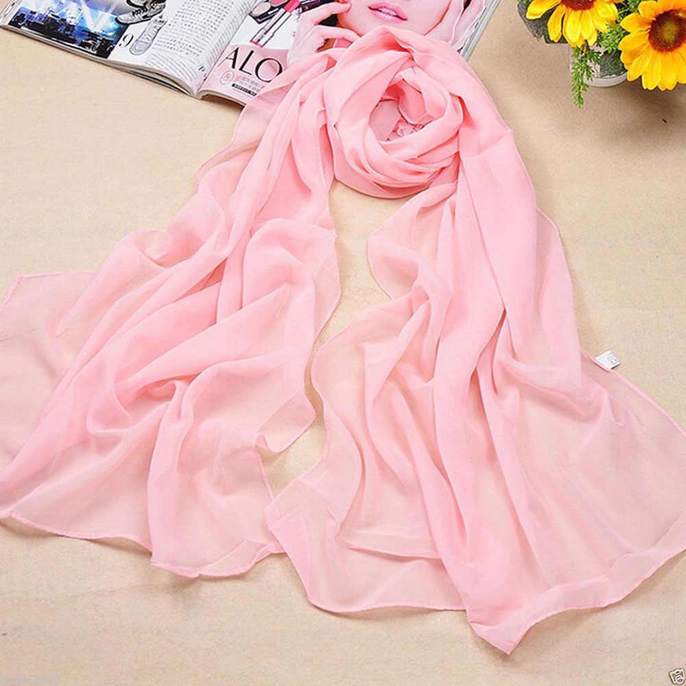 Lenços De Seda fina Cor Sólida Cape Xale de Ultra Luxo Marca Mulheres Lenços Hijab Muçulmano Cachecol Cachecol Doces Cor 120x150 centímetros