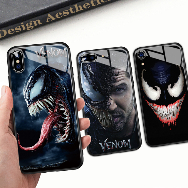 Venom Glass Style Phone Case for iPhone (12 Different Designs) 1