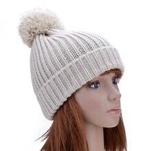 Новая Мода Леди Skullies Шапочки Вязаные Шапки Зимние Hat Cap Женщины Бал Bonnet Gorro Toucas Шляпы для Женщин HT51018 + 40