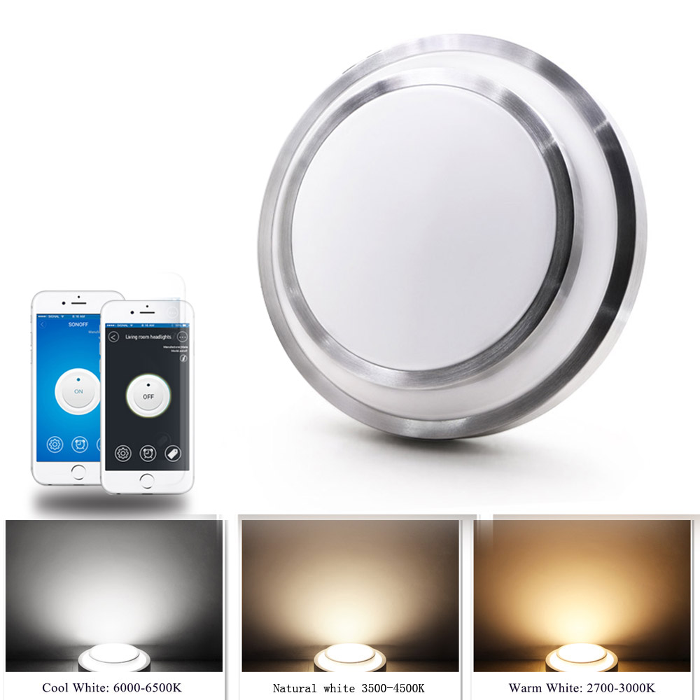JIAWEN 24W Wifi LED Ceiling Light Cool white+ Natural white+Warm white Smart LED Lamp AC100 - 240V