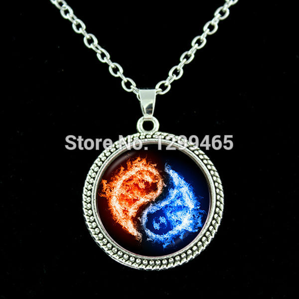 Chinese Taoism sign ancient Eight Diagrams Chakra necklace yin yang pendant Tao TAIJI statement choker necklace N 056