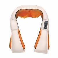 Electrical Shiatsu Back Neck Shoulder Body Massager Home Car 4D U Shape Infrared Heated Kneading Massage