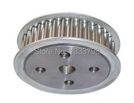 High-precision Aluminum Alloy 30mm bore 4*M3 screw 44teeth AT20  timing pulleysHigh-precision Aluminum Alloy 30mm bore 4*M3 screw 44teeth AT20  timing pulleys