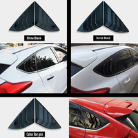 2 pieces For Ford Focus hatchback ST RS 2012 2018 Louvers Vent Carbon fiber paint or black Side Window Sunshades Louvers Vent