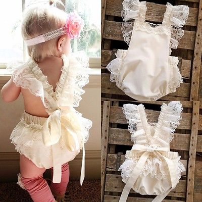 Kids Baby Girls Clothes Lace Ruffle   Romper   Jumpsuit Sunsuit Outfits A1