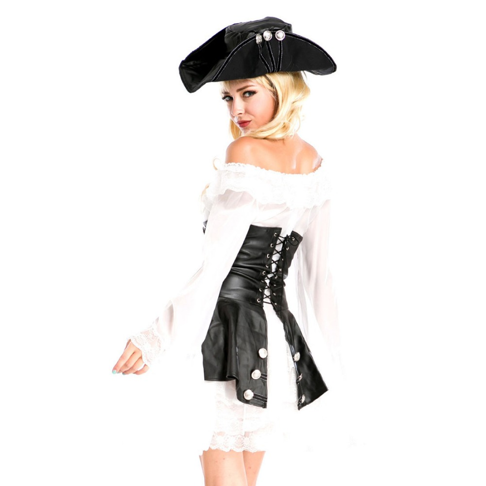 Black and white pirate dress