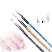 Gel Nail Brush Nail Art Kolinsky Acrylic Nail Brush Superfine Stripe Thin Nails Brushes For Painting Manicure Brush