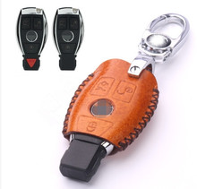 Newly & Free shipping! Special car key case for Mercedes Benz GL 300 350 400 X166 2015-2013 fashion genuine leather key cover
