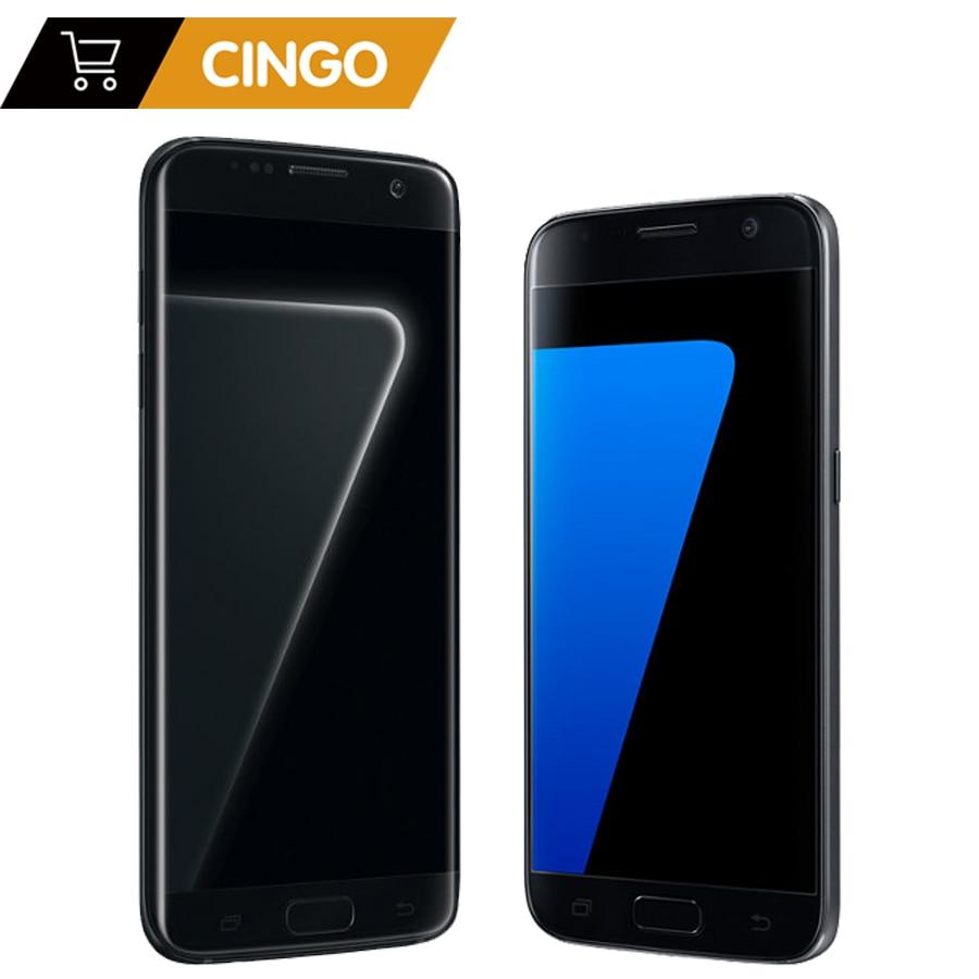 Samsung Galaxy S7 G930F/S7 Bord G935F Original Débloqué LTE GSM Téléphone Mobile Android Octa Core 5.1
