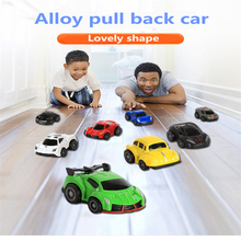 High simulation 2Pcs 4Pcs 8Pcs 24Pcs/Set Alloy Pull Back Model Car Mini Toy Parent-child For Boys Gift