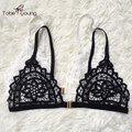 2017 New Sexy Lace Embroidery Front Closure Bra Seamless Brassiere Women's Bralette Camisole Vests Push-up Bras Femininas