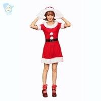 Vrouwen Kerst Kostuums Fancy Kerstman Jurk Sexy Cosplay Kostuum Volwassen Stitch Kleding
