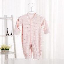 100 Cotton Soft Newborn Baby Underwear Girls Boys Clothing Rompers Long Sleeve Sleepwear Pajamas Infant 0