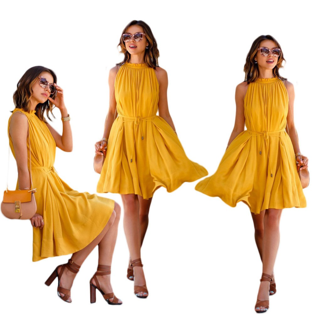 Summer yellow dress recommendations dress in winter in 2019