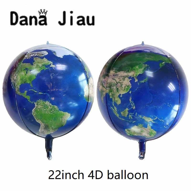 DanaJiau אסטרונאוט רדיד בלון חלל שמח מסיבת יום הולדת קישוט כדור להגן על הסביבה נושא כדור הארץ לחקור baloon