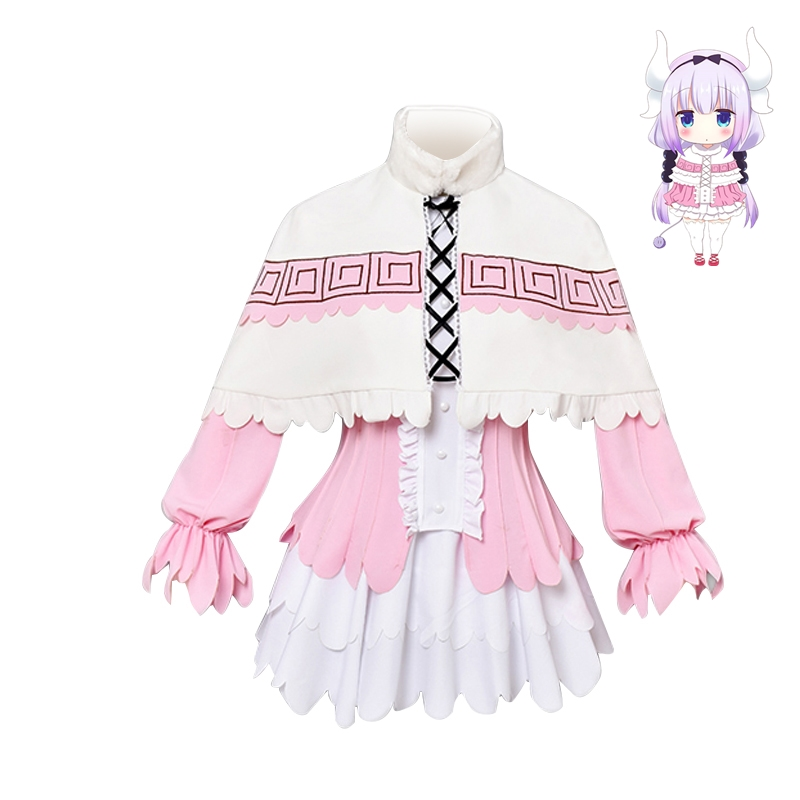 High Quality Anime Miss Kobayashi 39 s Dragon Maid Cosplay Costume Kanna Kamui Dress Outfit Halloween Party Costumes for Women