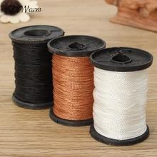50 м/катушка 1 мм нейлоновый шнур нить китайский узел макраме шнур браслет плетеный шнур DIY кисточки вышивка бисером Шамбала нить