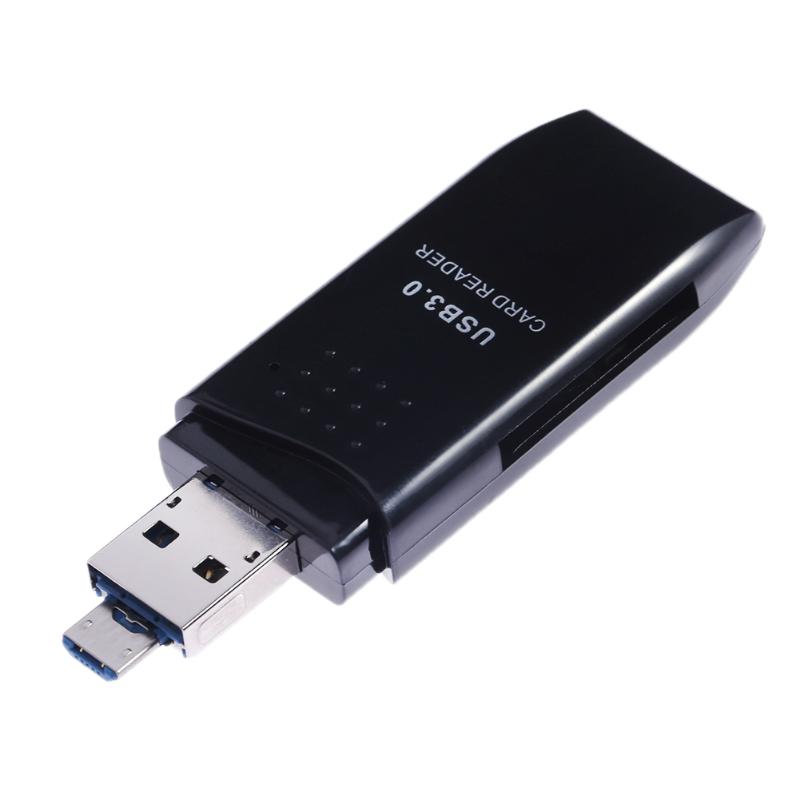 Usb 3 0 Superspeed Sd Micro Sd Memory Card Media Reader: 2 In 1 Portable USB 3.0 5Gbps Super Speed MINI OTG Micro