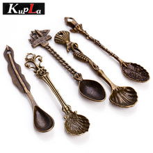 Фотография Kupla Vintage Spoon Charms Metal Handmade Personality Spoon Charms DIY Fashion Charms for Jewelry Making 10pcs/lot C5317